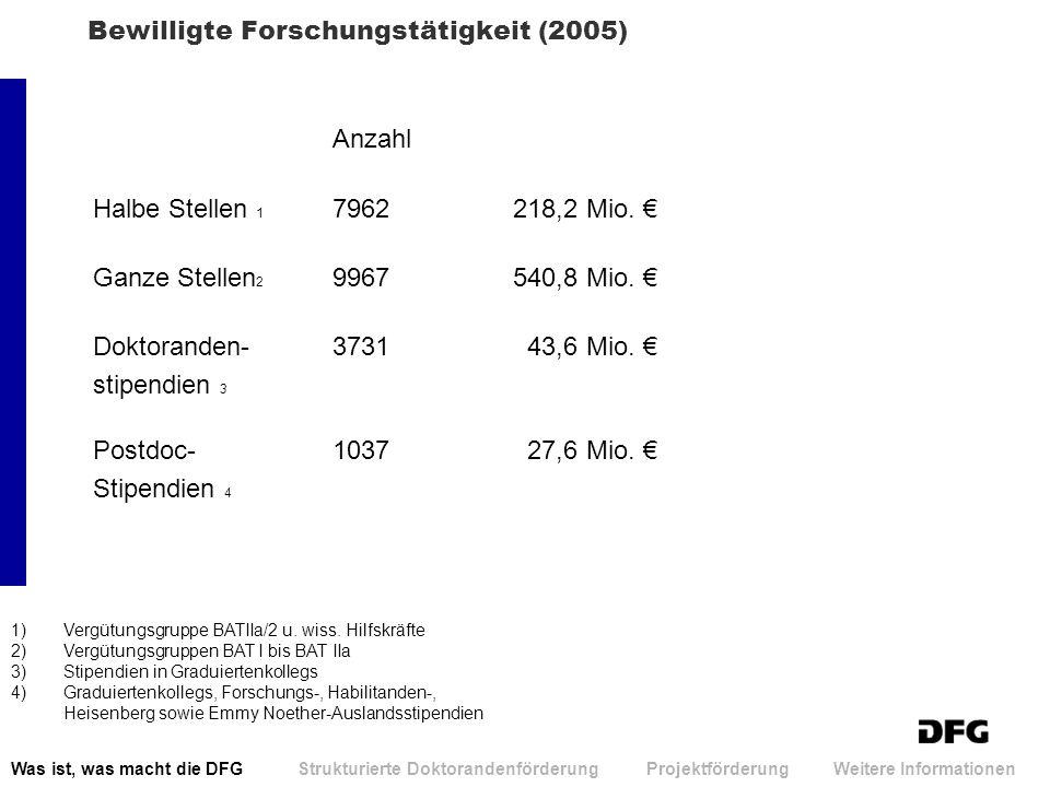 Bewilligte Forschungstätigkeit (2005)
