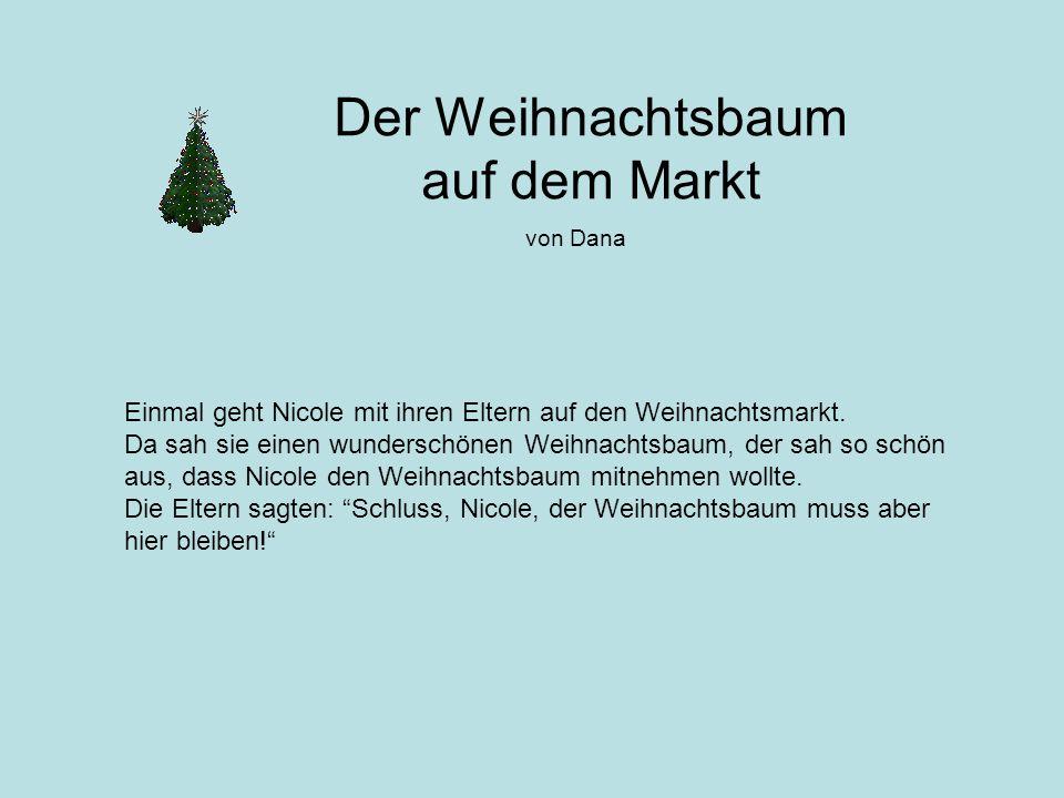 Der Weihnachtsbaum auf dem Markt