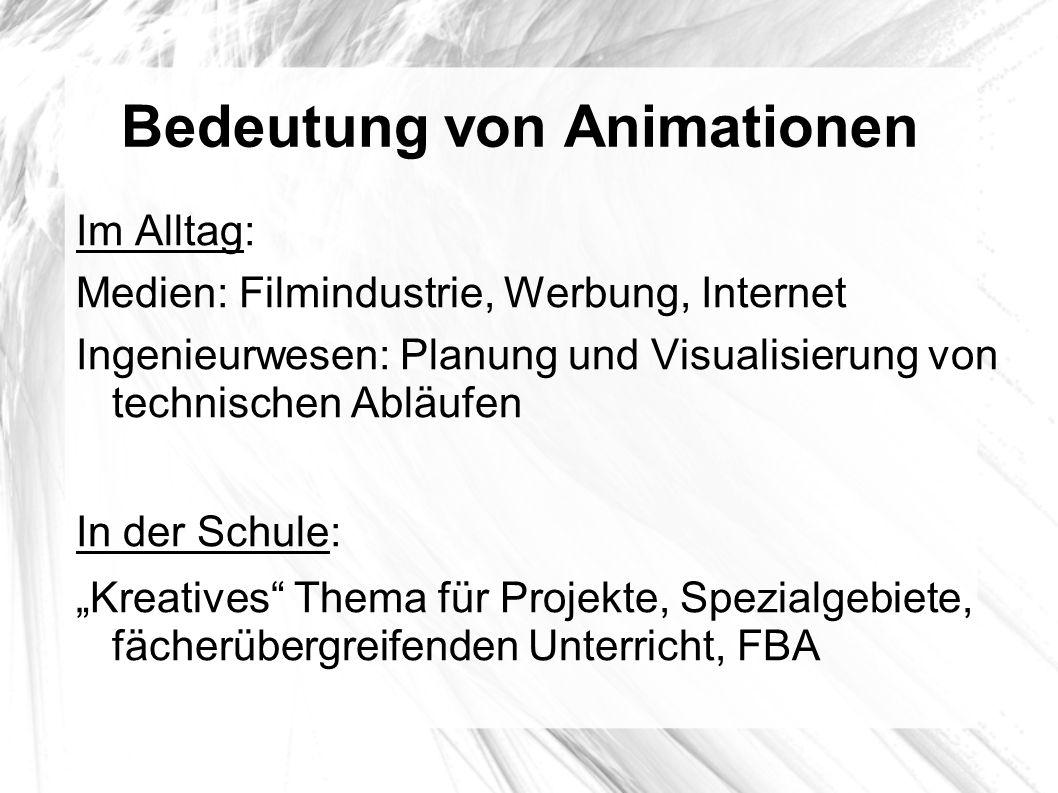 Bedeutung von Animationen