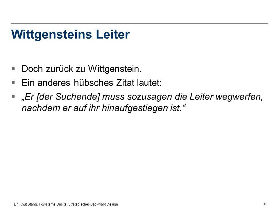 Wittgensteins Leiter Doch zurück zu Wittgenstein.