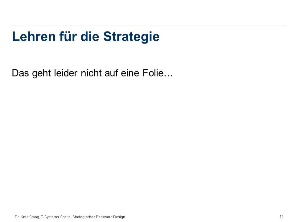Lehren für die Strategie