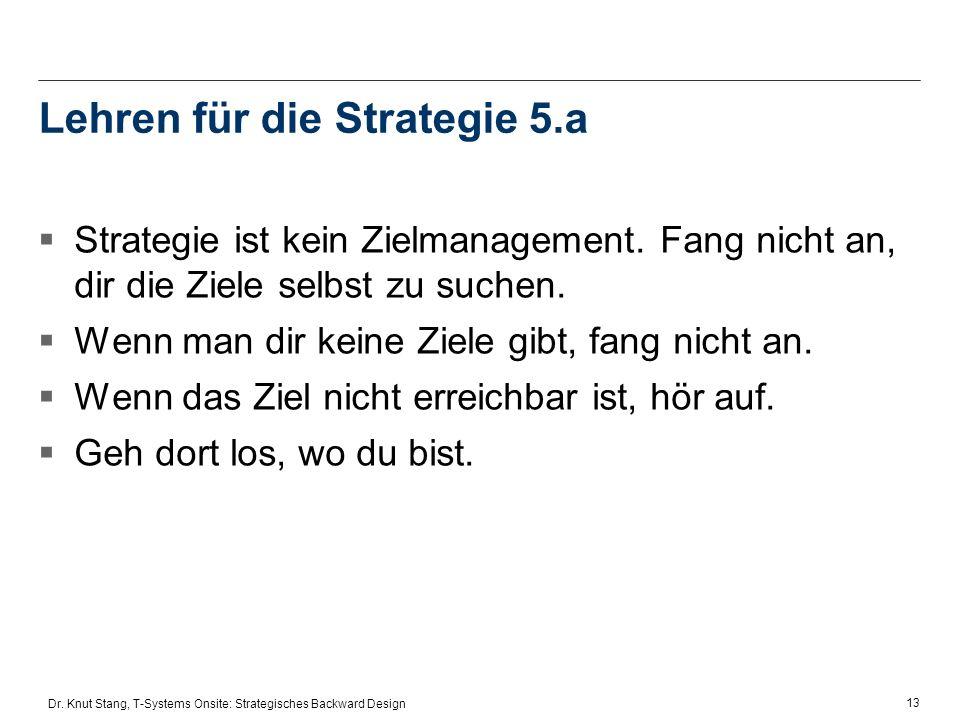 Lehren für die Strategie 5.a