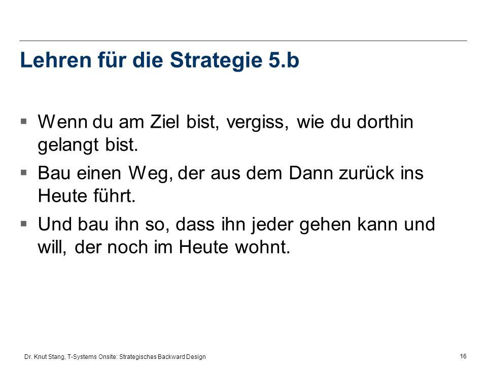 Lehren für die Strategie 5.b