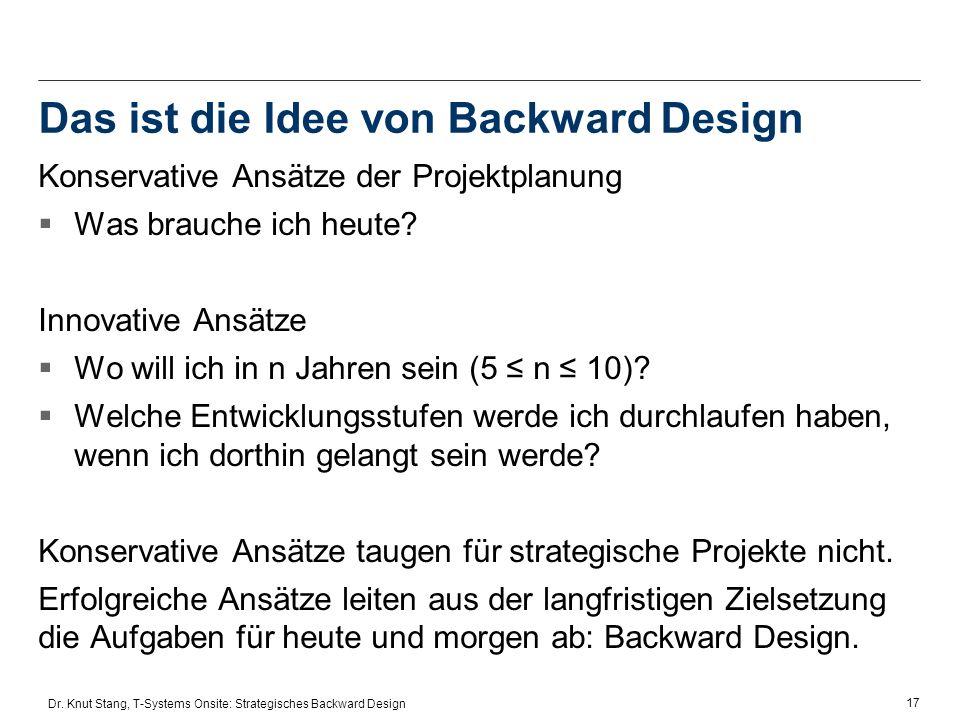 Das ist die Idee von Backward Design