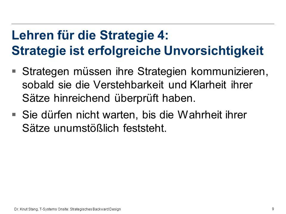 Lehren für die Strategie 4: Strategie ist erfolgreiche Unvorsichtigkeit