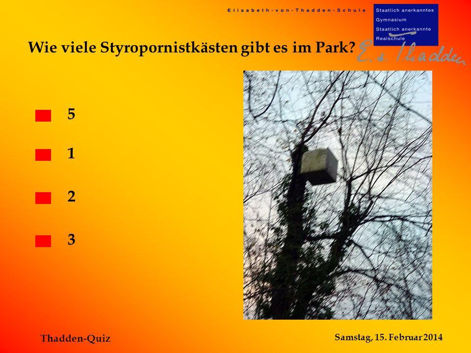 Wie viele Styropornistkästen gibt es im Park