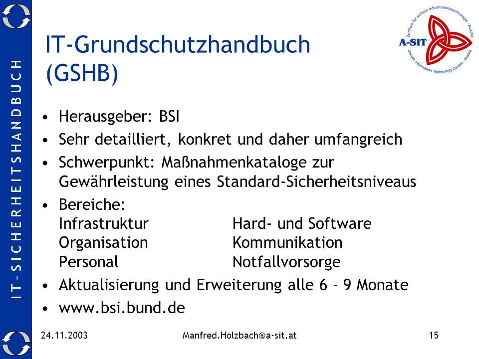 IT-Grundschutzhandbuch (GSHB)