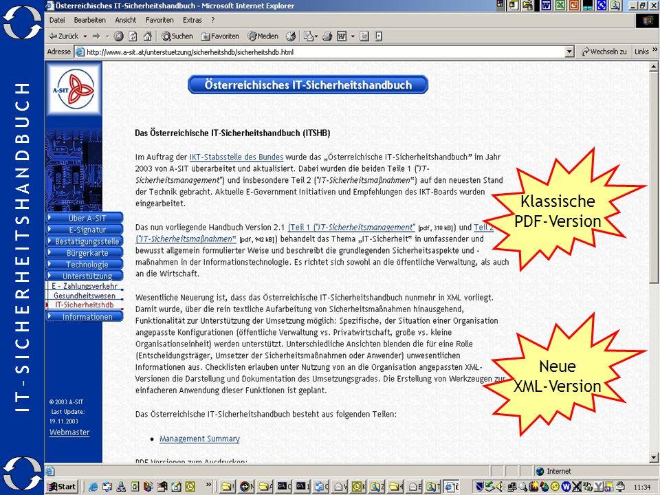 Wo gibt es das SIHA Klassische PDF-Version Neue XML-Version