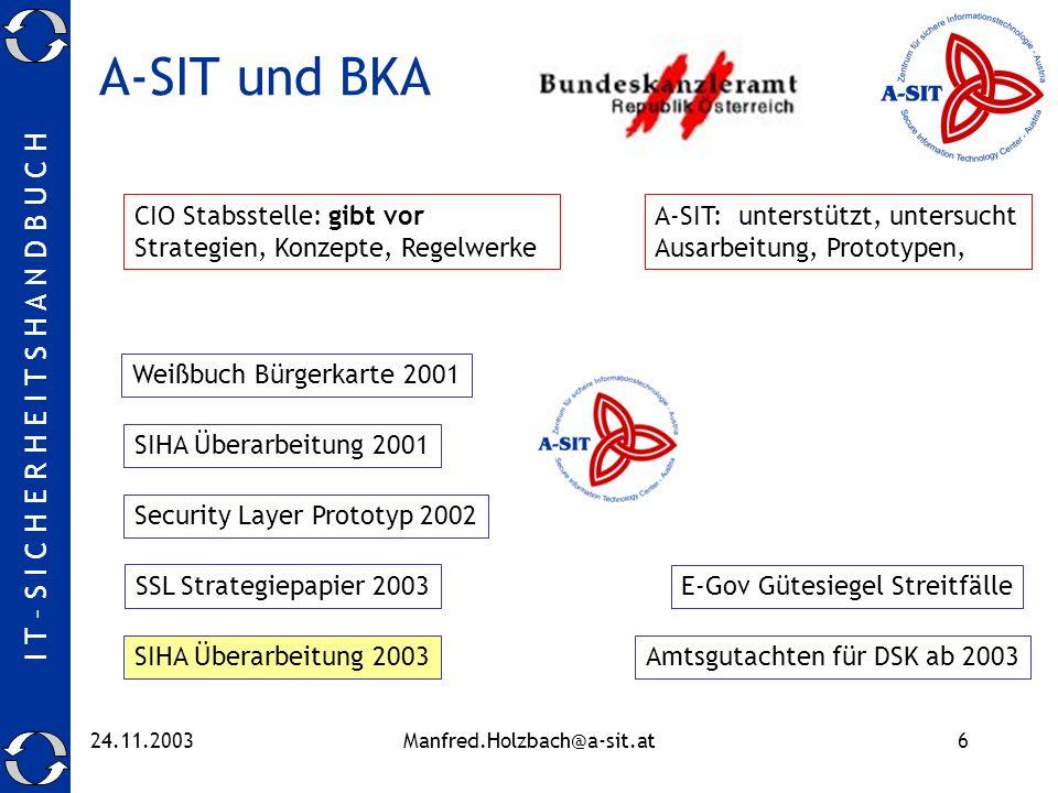 A-SIT und BKA CIO Stabsstelle: gibt vor