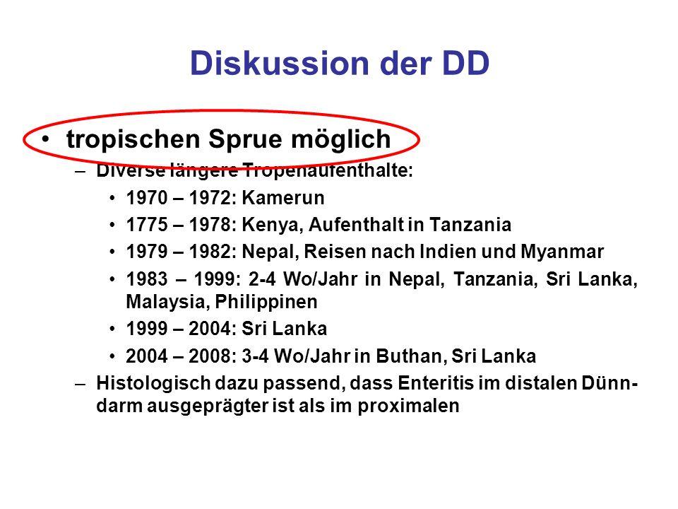 Diskussion der DD tropischen Sprue möglich