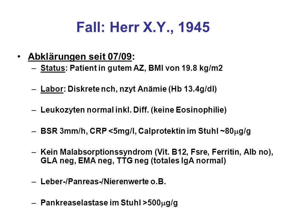 Fall: Herr X.Y., 1945 Abklärungen seit 07/09: