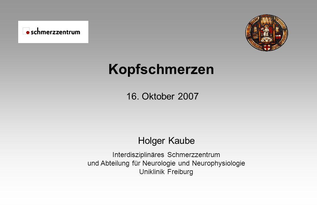 Kopfschmerzen 16. Oktober 2007