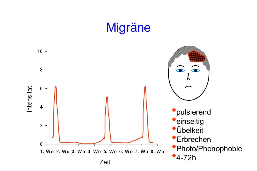 Migräne pulsierend einseitig Übelkeit Erbrechen Photo/Phonophobie