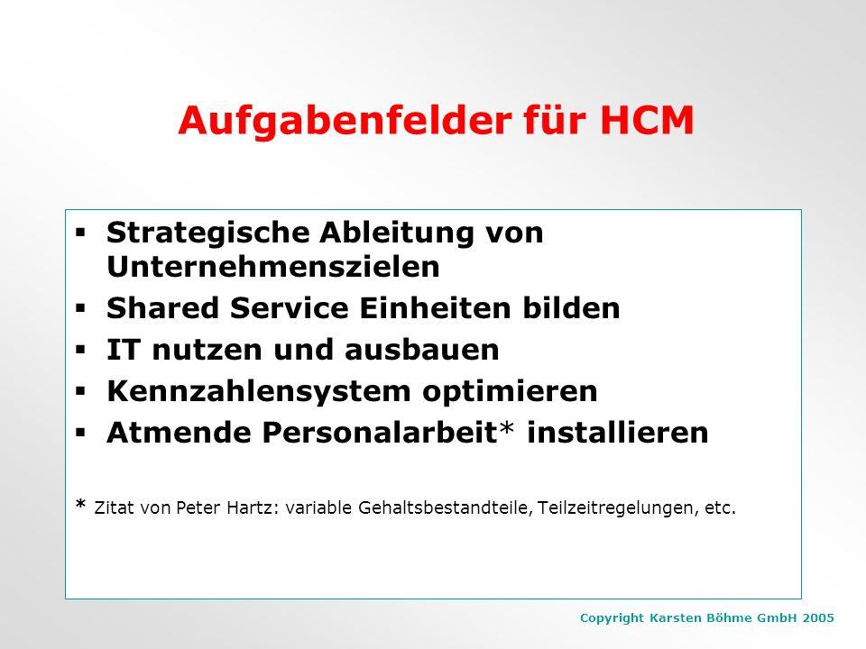 Aufgabenfelder für HCM