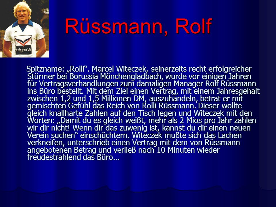 Rüssmann, Rolf