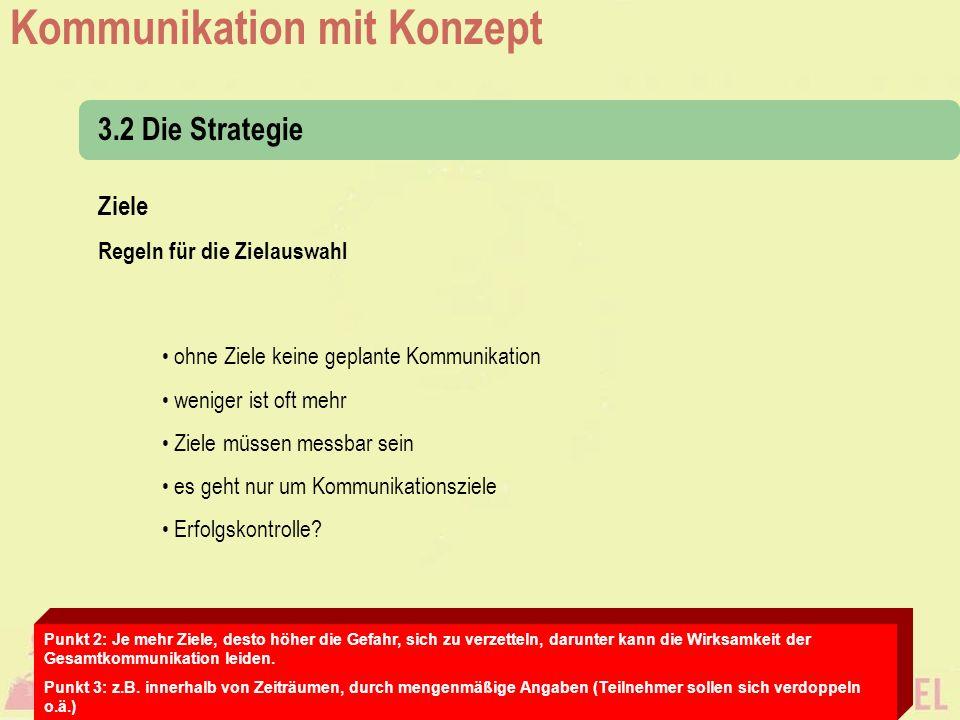 3.2 Die Strategie Ziele Regeln für die Zielauswahl