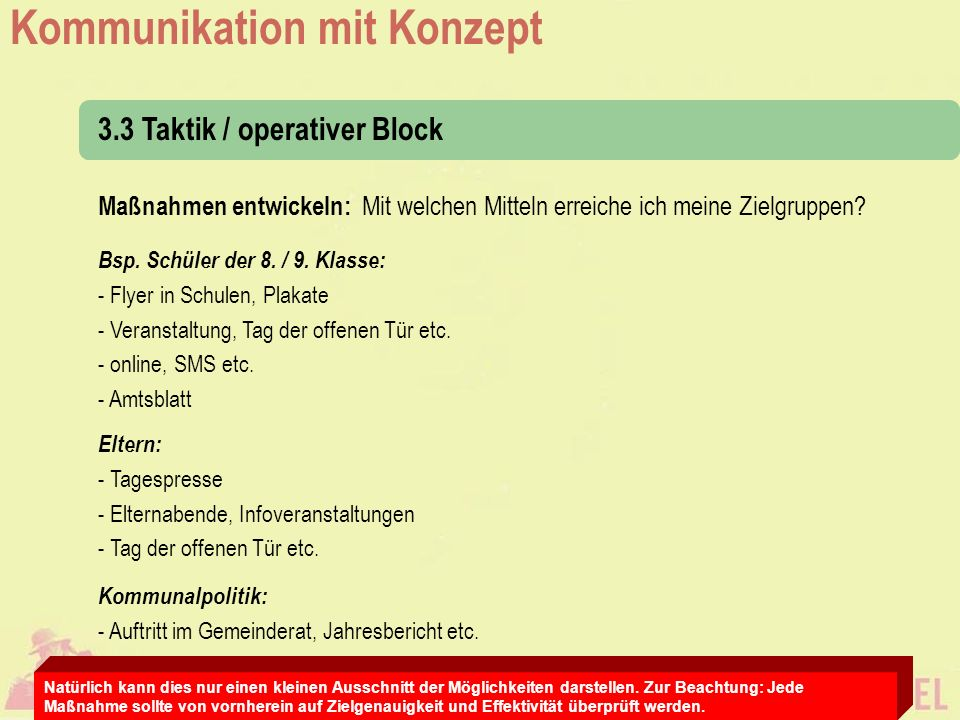 3.3 Taktik / operativer Block