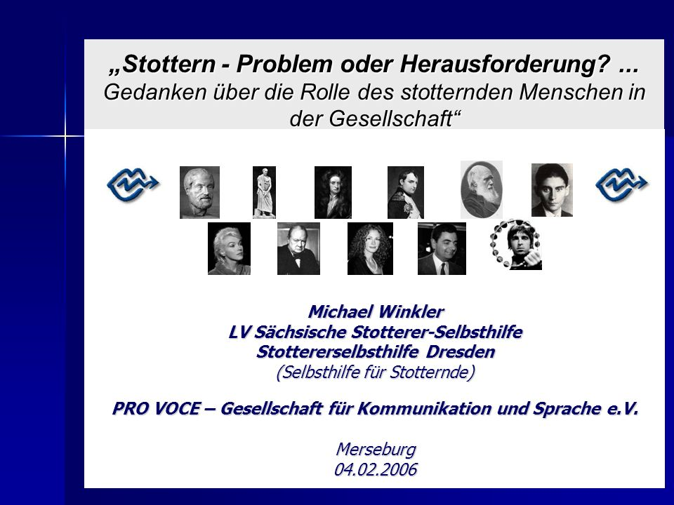 """""""Stottern - Problem oder Herausforderung"""