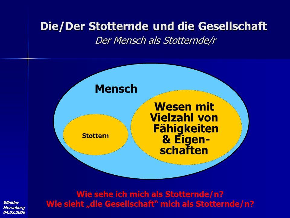 Die/Der Stotternde und die Gesellschaft Der Mensch als Stotternde/r
