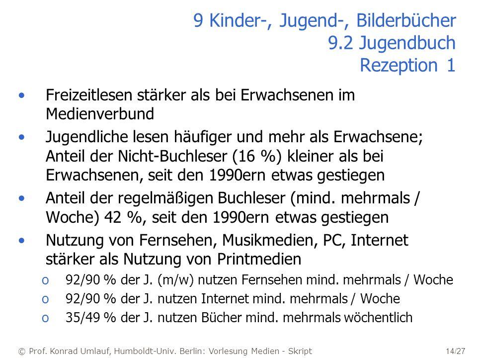 9 Kinder-, Jugend-, Bilderbücher 9.2 Jugendbuch Rezeption 1