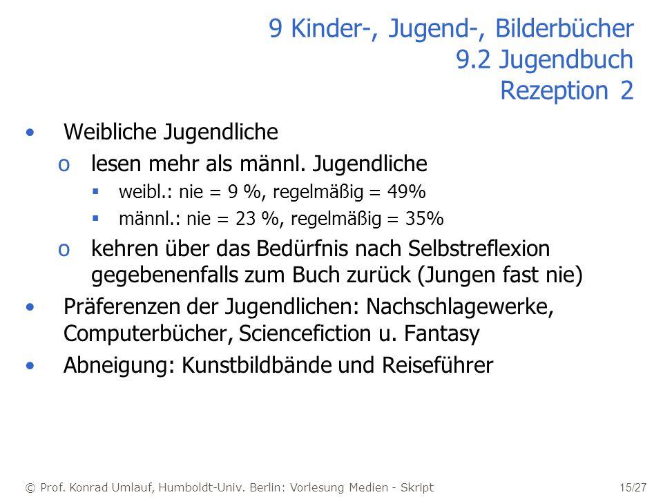 9 Kinder-, Jugend-, Bilderbücher 9.2 Jugendbuch Rezeption 2
