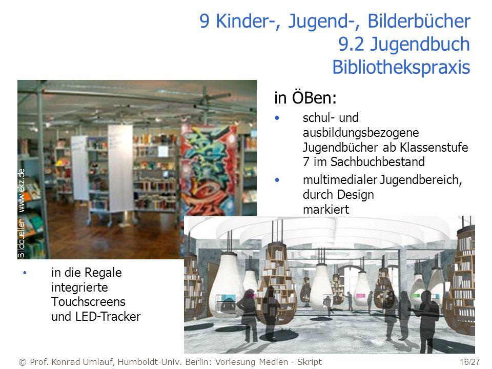 9 Kinder-, Jugend-, Bilderbücher 9.2 Jugendbuch Bibliothekspraxis
