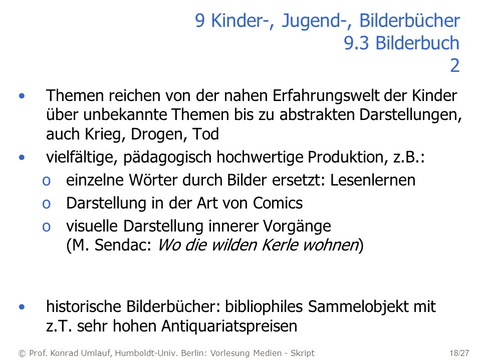9 Kinder-, Jugend-, Bilderbücher 9.3 Bilderbuch 2