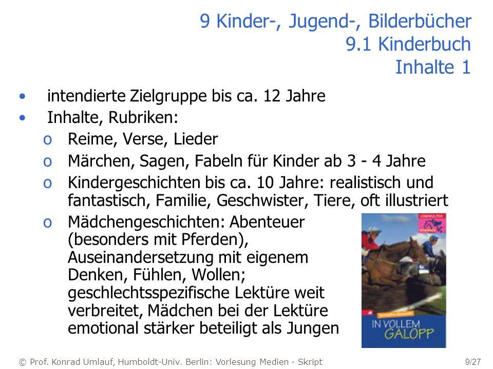 9 Kinder-, Jugend-, Bilderbücher 9.1 Kinderbuch Inhalte 1