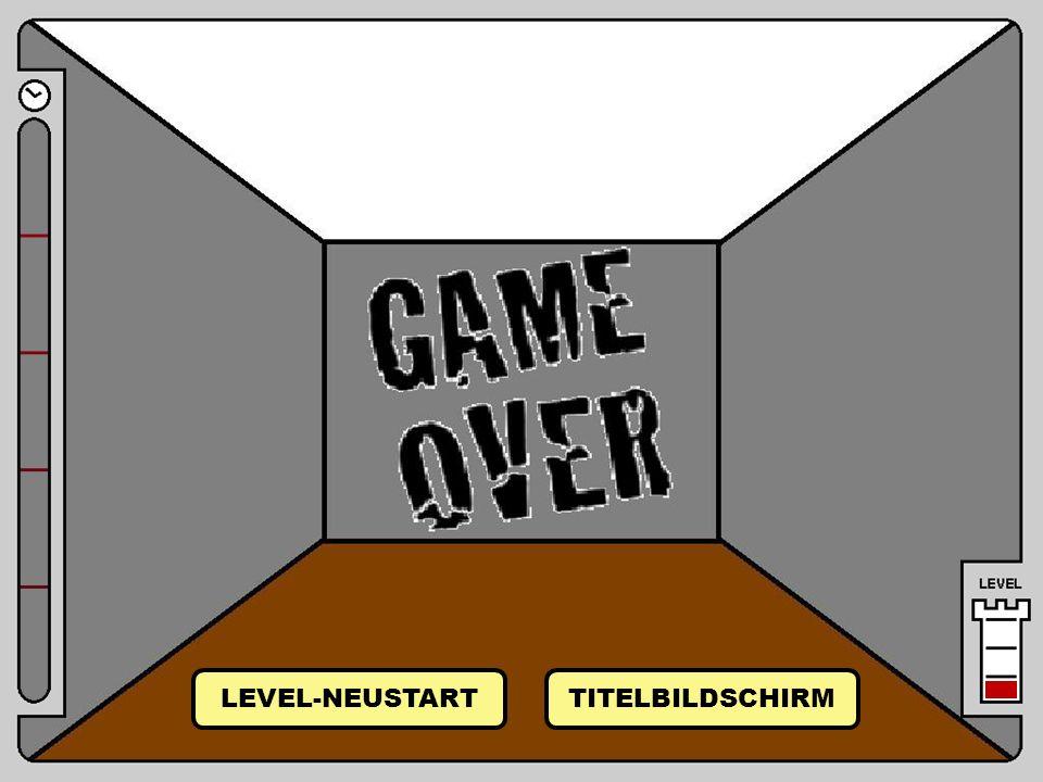 Raum 21 Raum 21 von Raum 22 LEVEL-NEUSTART TITELBILDSCHIRM