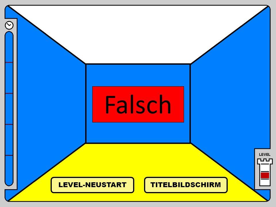 Falsch LEVEL-NEUSTART TITELBILDSCHIRM