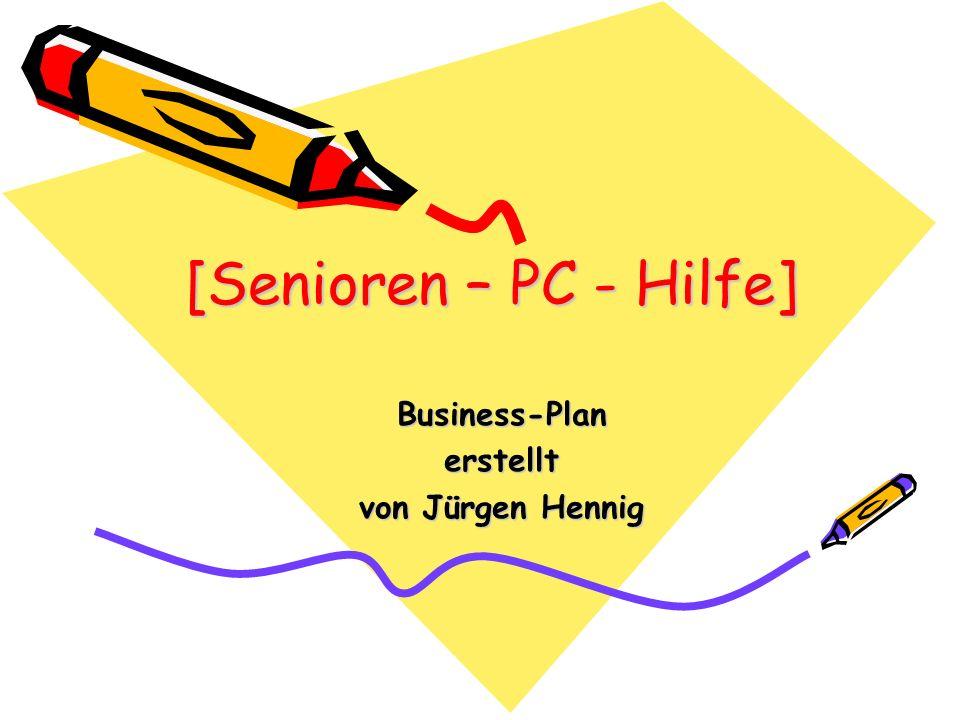 Business-Plan erstellt von Jürgen Hennig