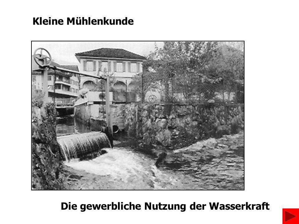 Kleine Mühlenkunde Die gewerbliche Nutzung der Wasserkraft