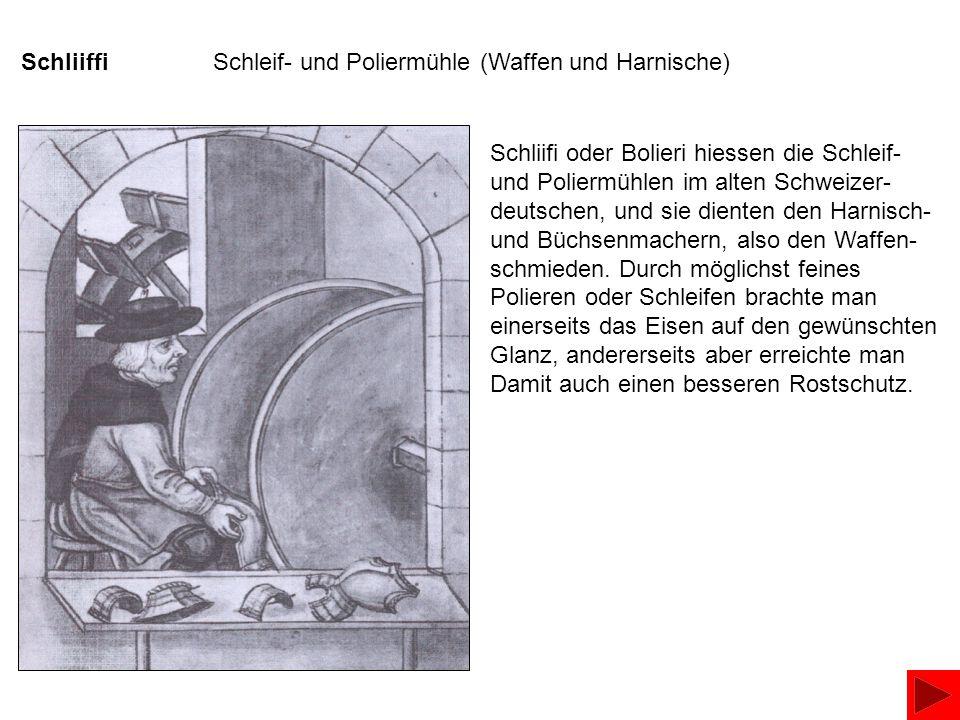 Schliiffi Schleif- und Poliermühle (Waffen und Harnische)