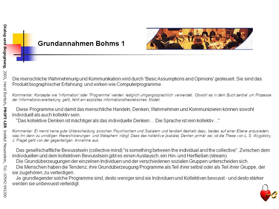 Grundannahmen Bohms 1