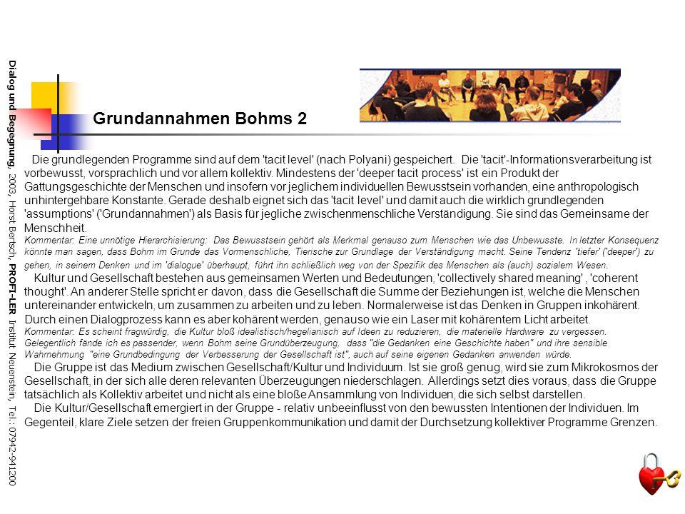 Grundannahmen Bohms 2