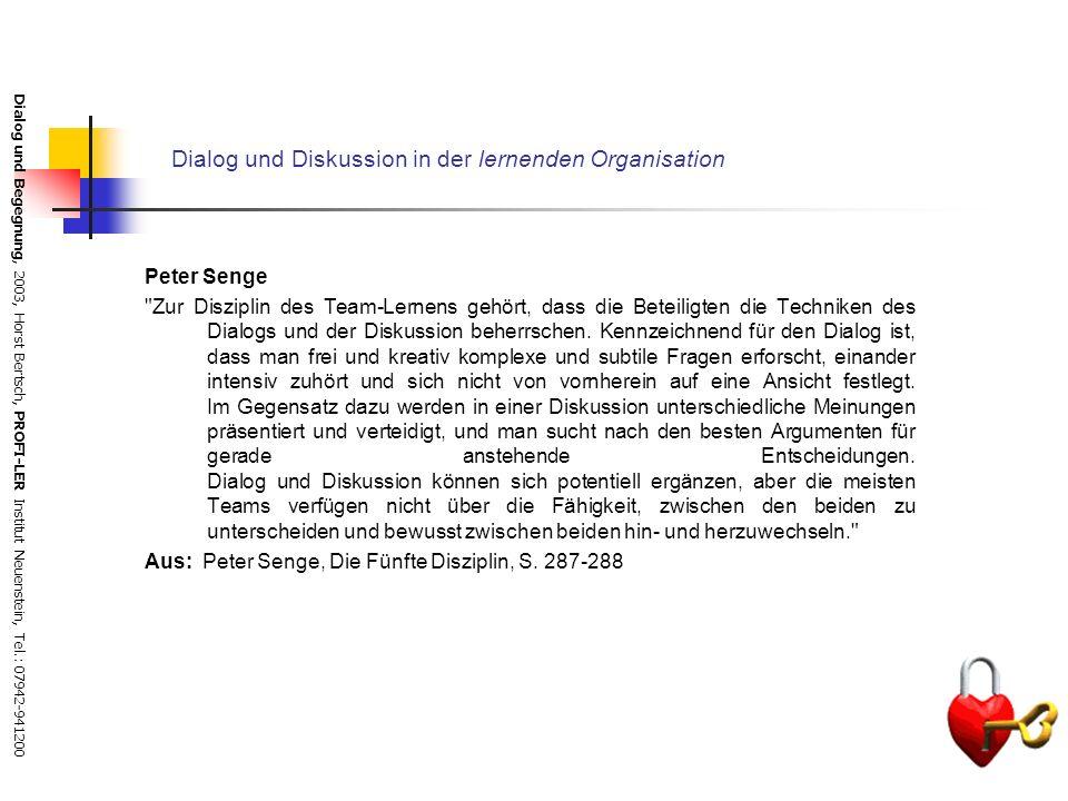 Dialog und Diskussion in der lernenden Organisation