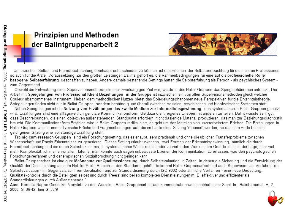 Prinzipien und Methoden der Balintgruppenarbeit 2