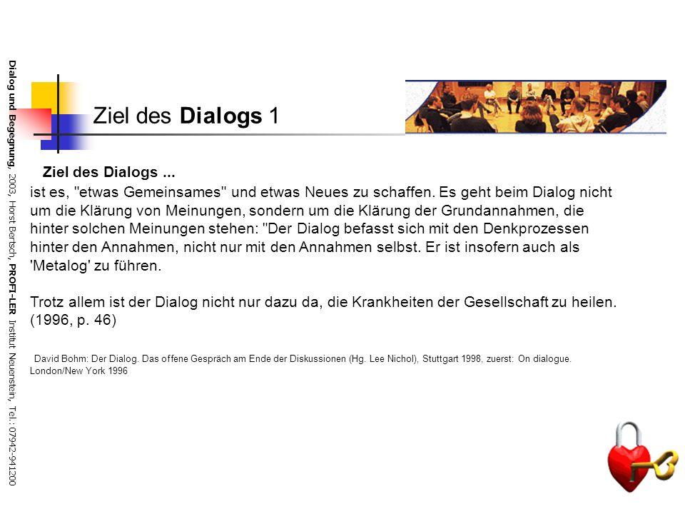 Ziel des Dialogs 1 Ziel des Dialogs ...