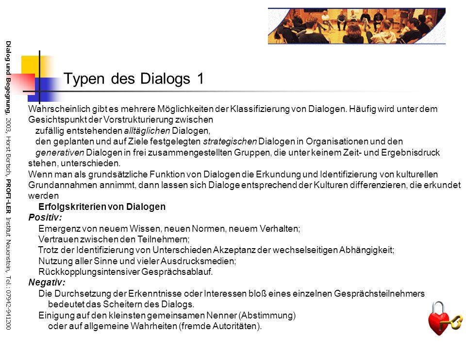 Typen des Dialogs 1