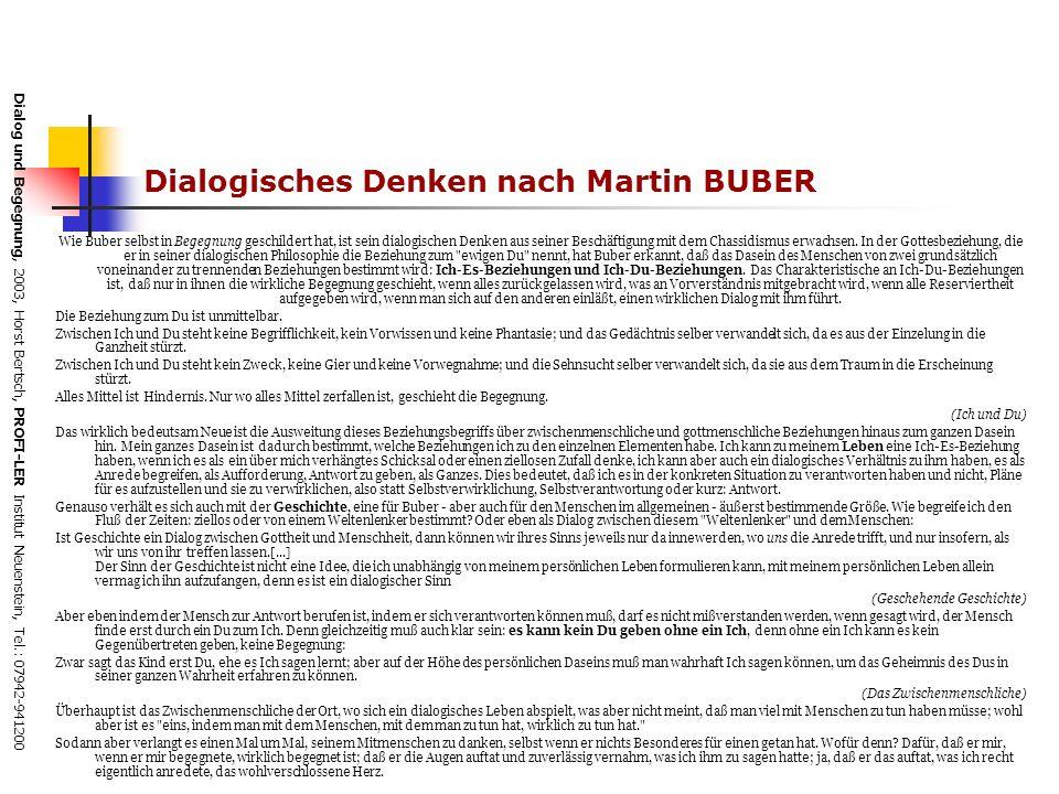 Dialogisches Denken nach Martin BUBER
