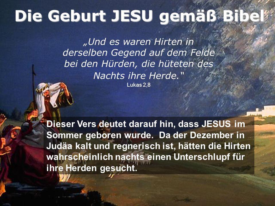Die Geburt JESU gemäß Bibel
