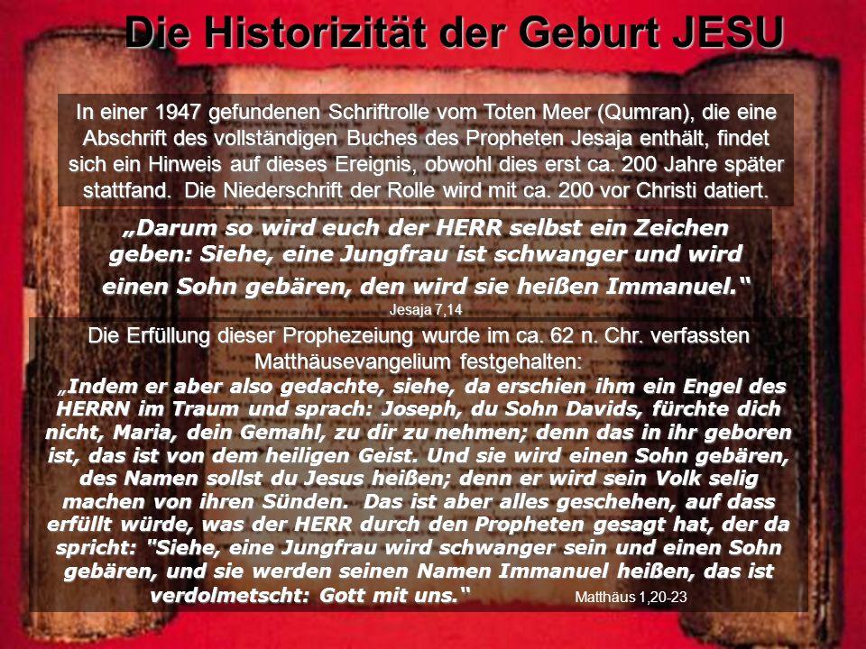 Die Historizität der Geburt JESU