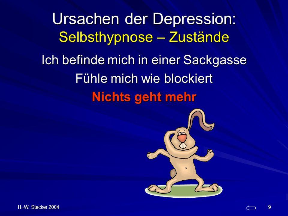 Ursachen der Depression: Selbsthypnose – Zustände