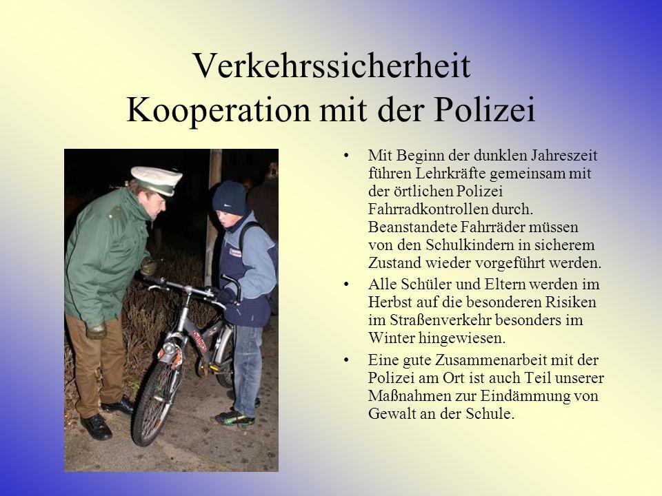 Verkehrssicherheit Kooperation mit der Polizei