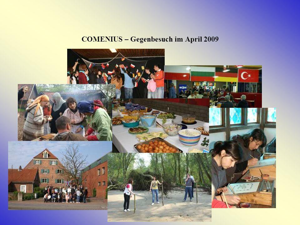 COMENIUS – Gegenbesuch im April 2009