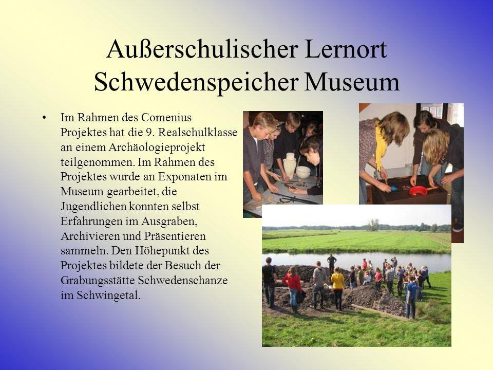Außerschulischer Lernort Schwedenspeicher Museum