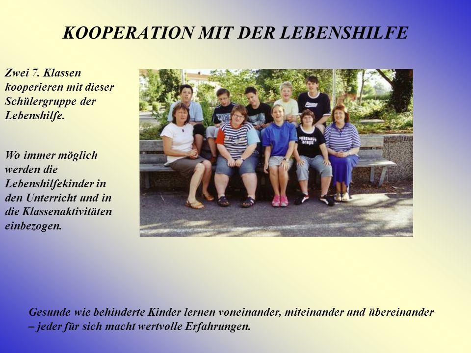 KOOPERATION MIT DER LEBENSHILFE