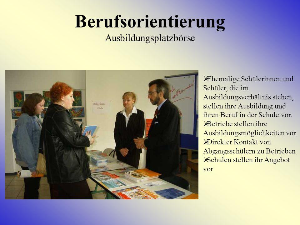 Berufsorientierung Ausbildungsplatzbörse
