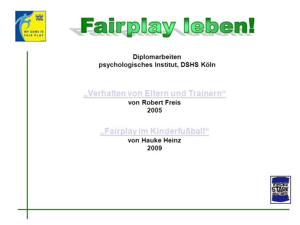 """""""Verhalten von Eltern und Trainern von Robert Freis 2005"""