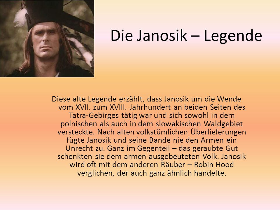 Die Janosik – Legende